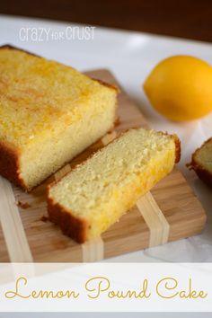 Lemon Pound Cake - the best one I've had! | crazyforcrust.com | #lemon