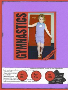Gymnastics Page 1 - Scrapbook.com