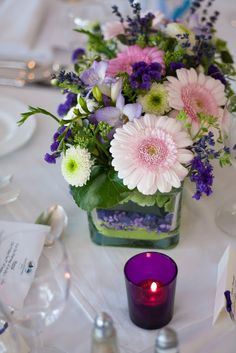 Flowers ready on the table for a Summer wedding - Gougane Barra Hotel, West Cork, Ireland #beautiful