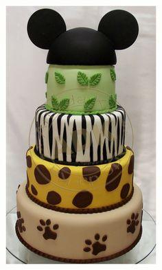 Mickey Safari Cake by Arte da Ka