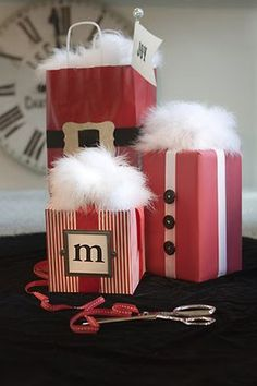 cute ideas for wrapping Christmas gifts