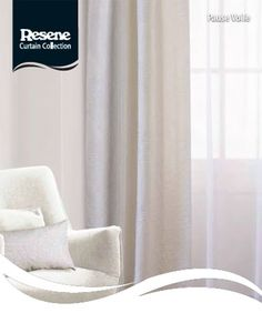 Resene Pause Voile Curtains