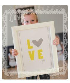 Love You.  Free 8x10 Printable