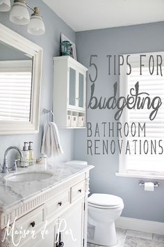 5 Awesome tips for budgeting bathroom renovations! Love these ideas!