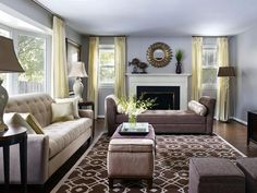 Transitional Living Room by Decorating Den Interiors