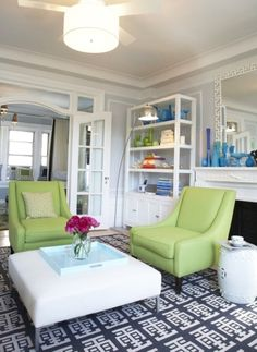 green chairs for family room