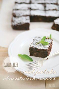 Guilt-free Sweet Potato Chocolate Brownies : gluten-free, grain-free, vegan, refined sugar free | Pure Ella : www.pureella.com