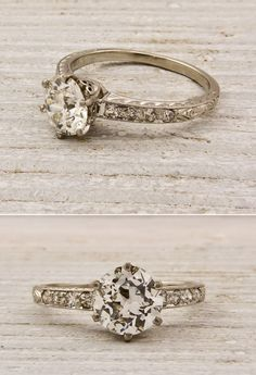 Simple Vintage Engagement Ring, rally, anything vintage-y and I'd prefer gold, as all my other rings are gold.