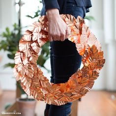 The DIY copper leaf