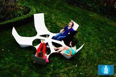 bottlebench social garden furniture by maarten pauwelyn