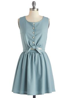 Eucalyptus Calypso Dress. Once you arrive at the festive garden party, you're ready to shimmy and shake all night long in this sage-green dress! #green #modcloth