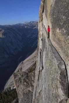 """The """"Thank God Ledge"""" Yosemite National Park, California, USA. Photograph by Jimmy Chin.  WAAAAAAAAAAAA!!!!!!!"""