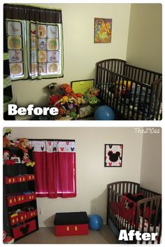 Mickey Mouse Inspired Toddler Room Decoration