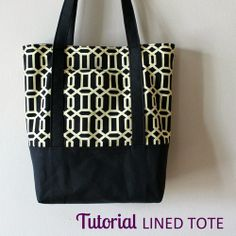 Lined Tote Tutorial