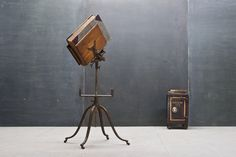 Cast-Iron and Oak Bookstand