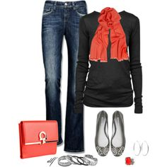 Casual Black and Coral :)