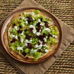 Kalyn's Kitchen®: Recipe for Mediterranean Tostadas with Hummus, Feta, and Kalamata Olives  [#SouthBeachDiet friendly from Kalyn's Kitchen]