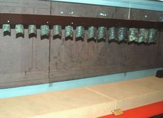 Set of bronze bells buried in the tomb of the Nanyue King, Guangzhou, China, Western Han Dynasty.