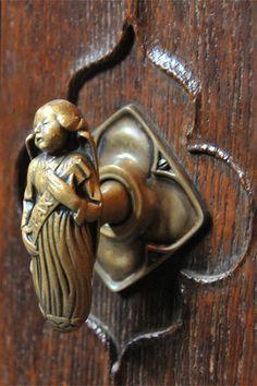 Door handle in the Thistle Chapel,  Old Town, Edinburgh, Scotland