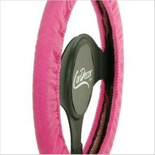 Dress up your car in stretchy Pink Steering Wheel Cover from CarDecor.com.
