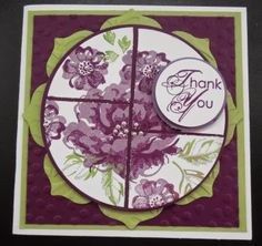 346 -PENNY TOKENS STAMPIN SPOT: Stippled Blossoms Thank You Card  for Just Add Ink Challenge #223. ink challeng, stippl blossom, card, stampin spot, challeng 223