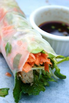 Different ideas for spring rolls!