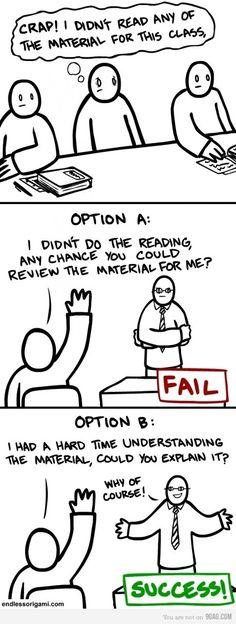 hahahaha -- grad school options?