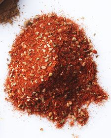 SESAME-SPICE RUB ● 1/4 cup Spanish paprika; ● 1 1/2 tsp ground cumin; ● 2 tsp dried oregano; ● 2 tsp sesame seeds; ● 1/2 tsp ground pepper. In a small airtight container, combine paprika, cumin, oregano, sesame seeds, and pepper. Cover and shake well to combine. Store at room temperature, up to 3 months. http://www.marthastewart.com/852384/sesame-spice-rub