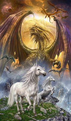 Dragon and Unicorns by Jan Patrik Krasny