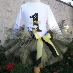 Bumblebee Birthday Girl Personalized Tutu Set-birthday, ballerina ...