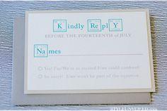 Awesome chemistry wedding invitations