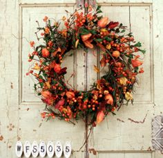 Autumn Blazing Trails Fall Wreath
