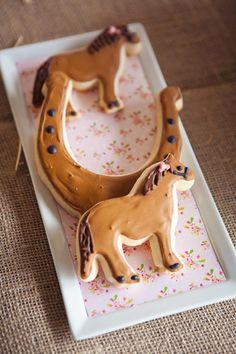 Vintage Pony Party: decorated sugar cookies