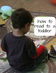 How to Read to a Toddler! Amazing how many of these things we are already doing @ her age!