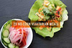 20 No-Cook Vegetarian Meals for Hot Summer Days