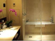 Tub inside shower