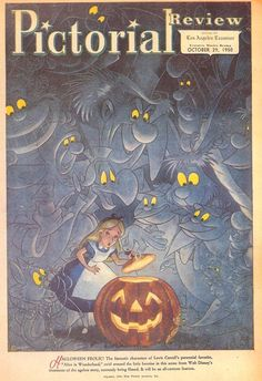 Alice in Wonderland Halloween cover of Pictorial Review magazine - October 29, 1950