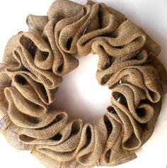 Country style burlap wreath