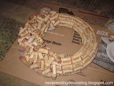 How To Make A Wine Cork Wreath