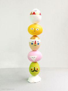 DIY Easter eggs mix n match sculpture