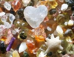 What ocean sand looks like, magnified 250 times.