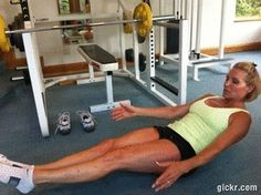 V-Sit Abs are the best!! Add a side twist for your obliques.