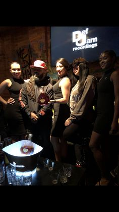 Dough From Da Go and The Courvoisier Models @ the #DefJam #Undisputed Docuseries Viewing & Listening Session Held @ Drink Haus Chicago