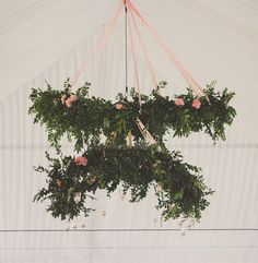hanging greenery chandeliers make the perfect garden statement