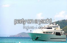 Party On A Yacht