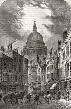 St Martin's-Le-Grand, 1760 from St Martin's-Le-Grand, 1760 via Lost in Long Forgotten London Spitalfields Life