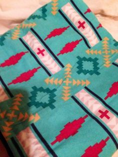 Southwest Print Blanket w. recycled denim backing     bitspeaces - Quilts on ArtFire