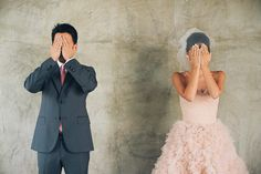 Super cute idea for the first look! - creative wedding photography - THE KIM WEDDING AT THE CLARKE ESTATE . THE IMAGE IS FOUND . PHOTO BLOG