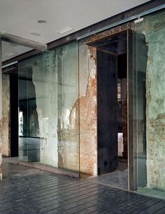 hotel interiors, interior design, glass doors, office designs, architectur, warehous, glass walls, wall textures, exposed brick