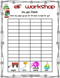 This is a great Elf Christmas Pack with over 60 pages of math and literacy activities!  Many of the student pages have both color and black and white options! $
